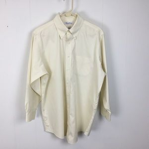 Brooks brothers mens Yellow dress shirt 16.5